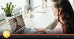 video chat in masks telhealth